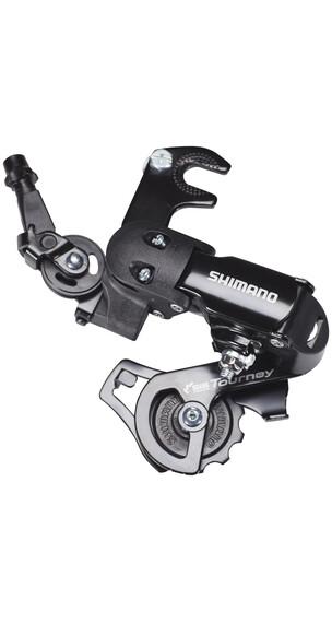 Shimano Tourney RD-FT35 gear med adapter sort
